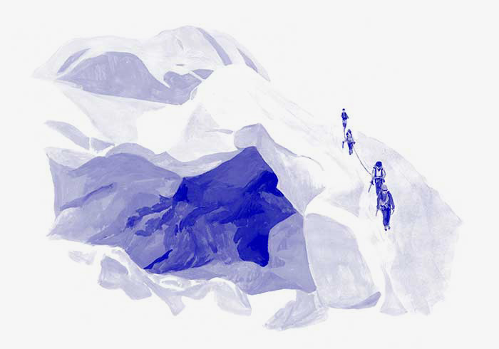 Illustration crevasses